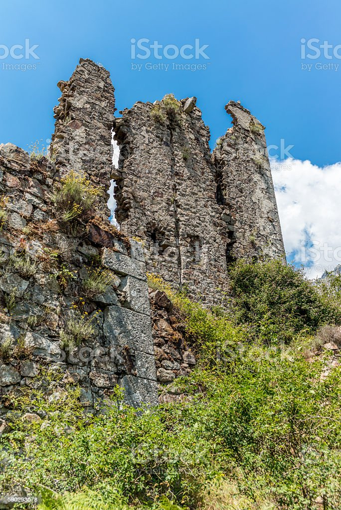 ruins in Corsica  along the GR20 route - 1 royaltyfri bildbanksbilder