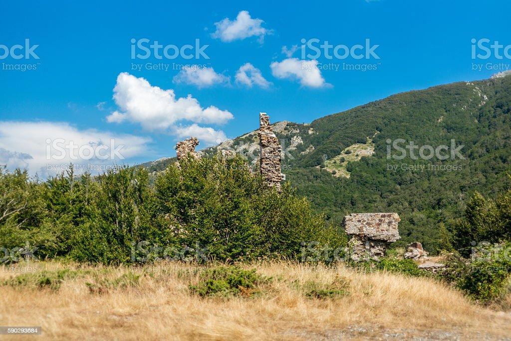Ruins in Corsica along the GR20 route - 3 royaltyfri bildbanksbilder
