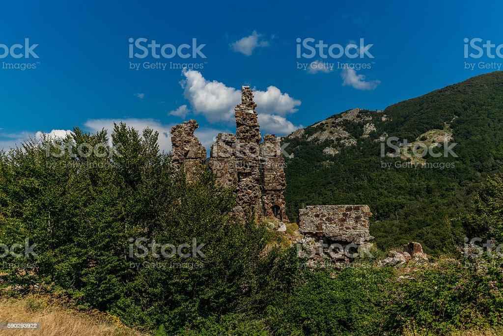 Ruins in Corsica  along the GR20 route - 4 royaltyfri bildbanksbilder