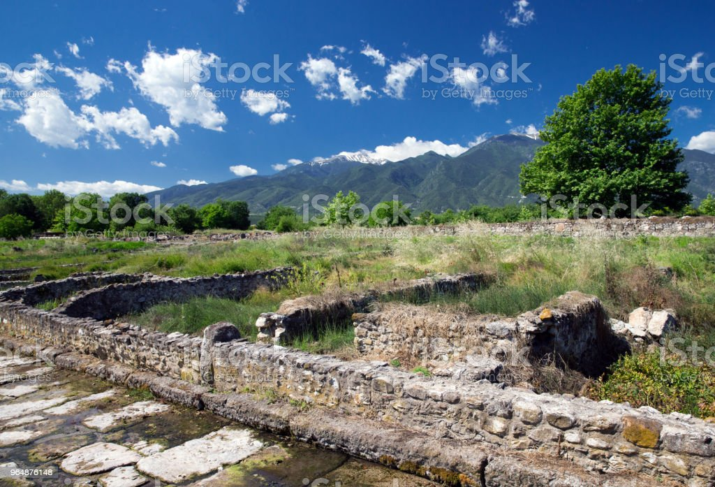 ruins in Dion, Greece. royalty-free stock photo