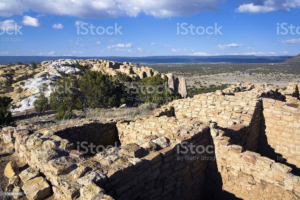 Ruins in El Morro National Monument stock photo