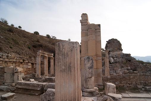 istock Ruins in Ephesus 474953400