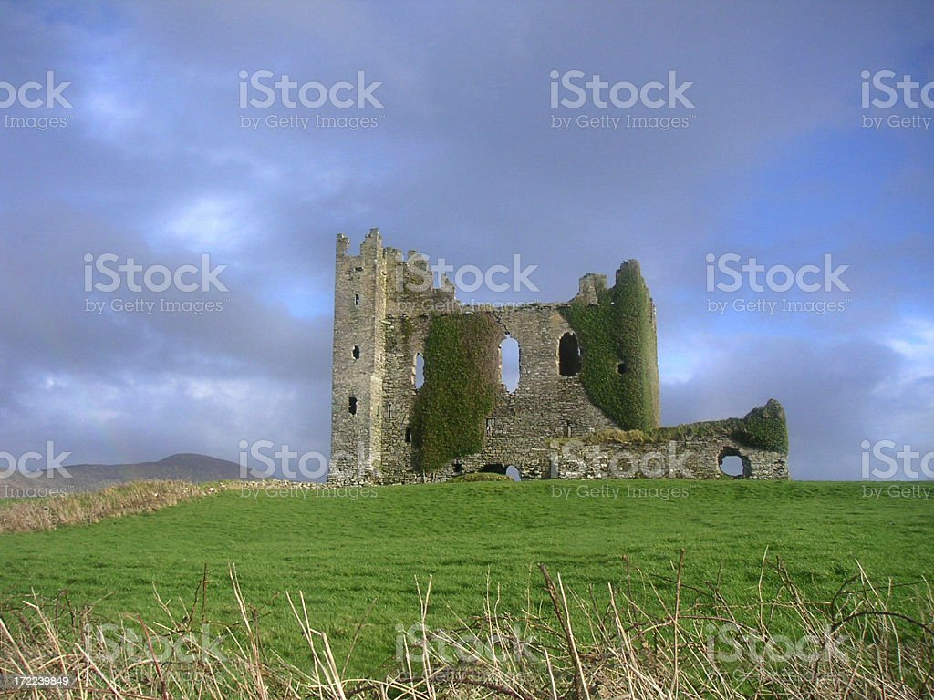 Ruine in Irland, County Kerry stock photo