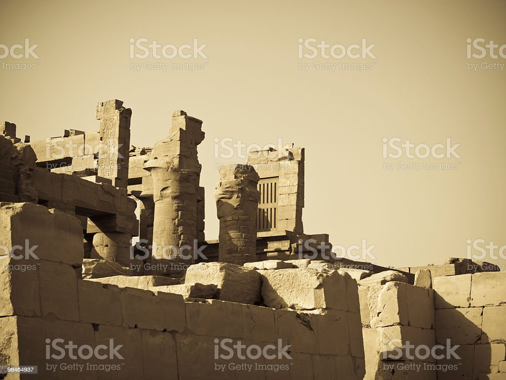 ruins in Karnak temple, Luxor, Egypt royalty-free stock photo