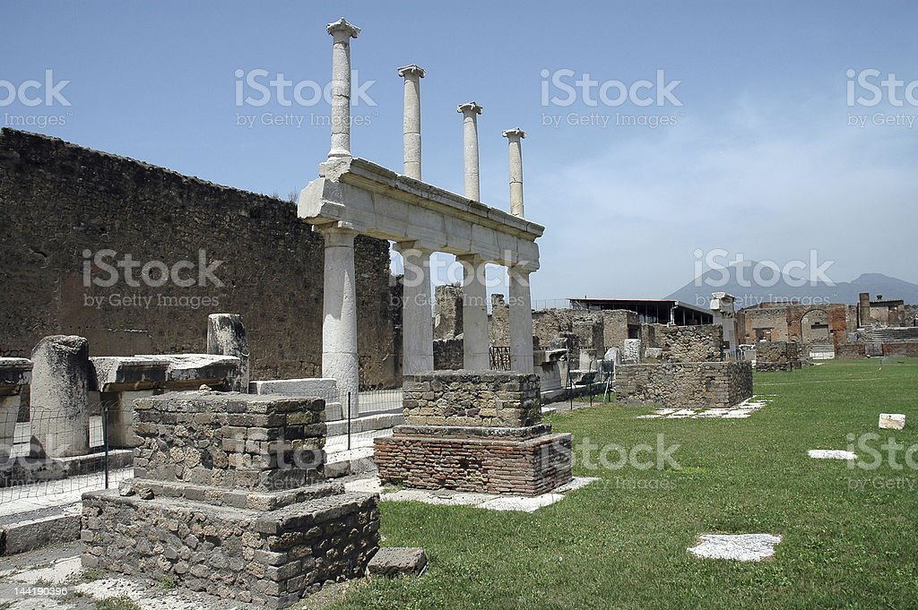 Ruins In Pompeii, Italy royalty-free stock photo