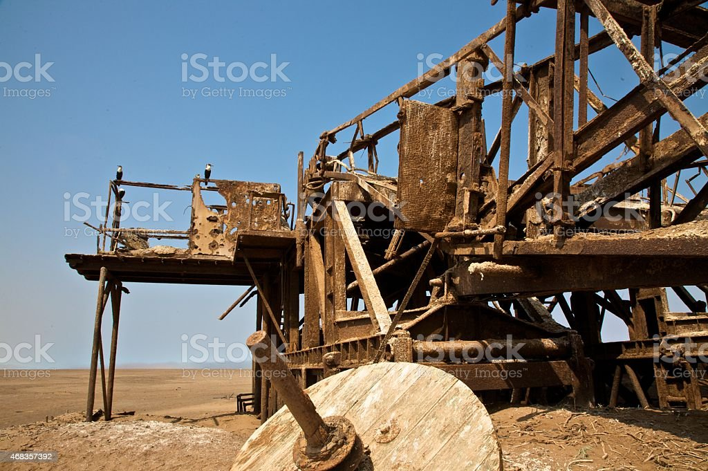 Ruins in th desert royalty-free stock photo