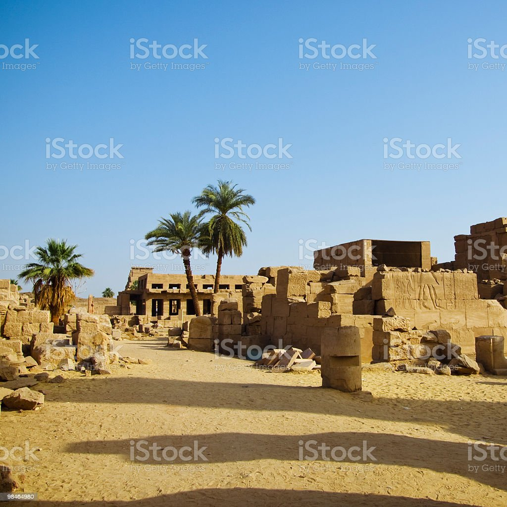 ruins ,Karnak temple, Luxor, Egypt royalty-free stock photo