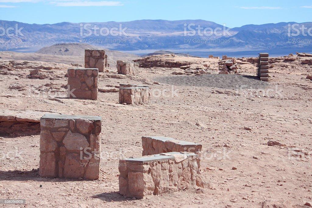 ruins near valley de la luna, Atakama region stock photo