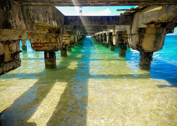 Ruinen eines karibischen Pier – Foto