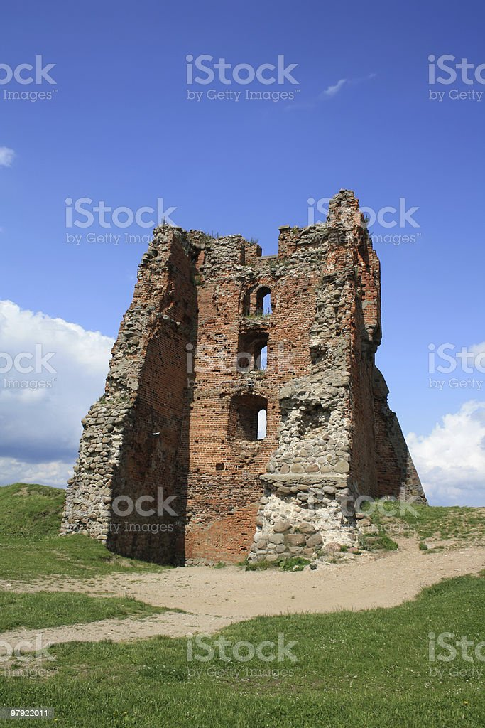 Ruins of a castle royalty-free stock photo