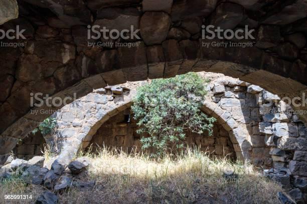 Ruinen Eines Christlichen Klosters Des 6 Jahrhunderts N Chr In Das Verlassene Dorf Deir Qeruh In Den Golanhöhen Israel Stockfoto und mehr Bilder von Alt