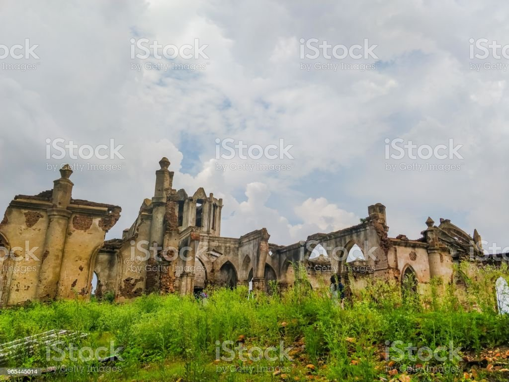 Ruines de l'église - Photo de Antique libre de droits