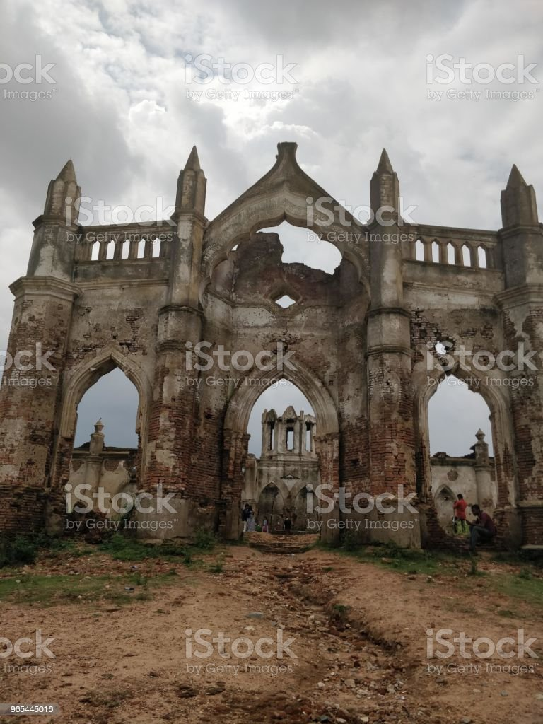Ruins of a church royalty-free stock photo