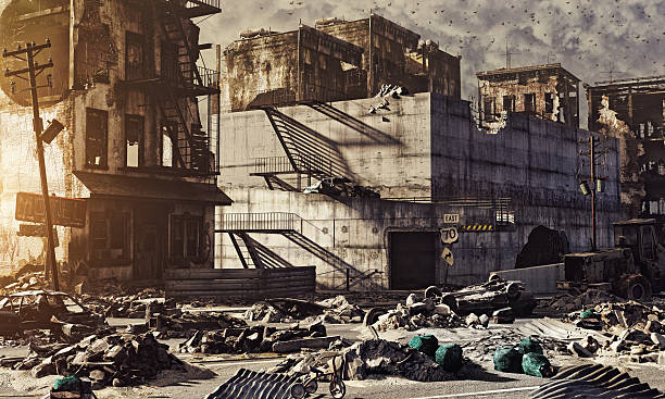 ruins of a city - depredation stock pictures, royalty-free photos & images