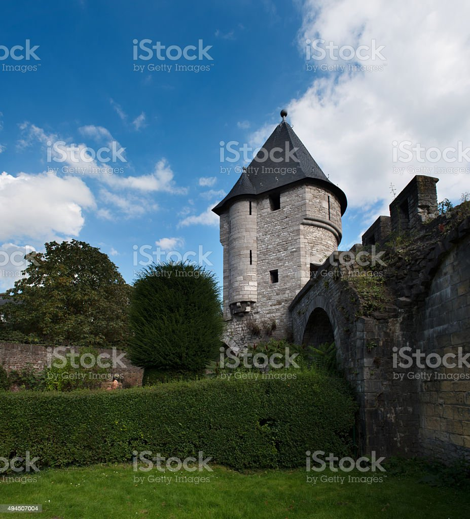 Ruins of a city wall stock photo