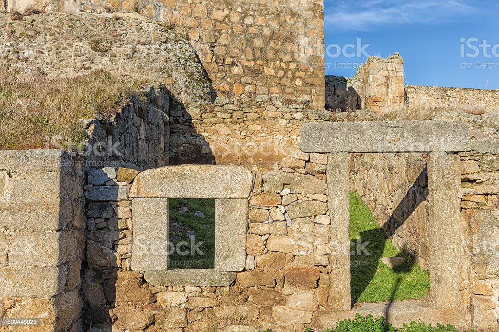 Ruins of a house stock photo