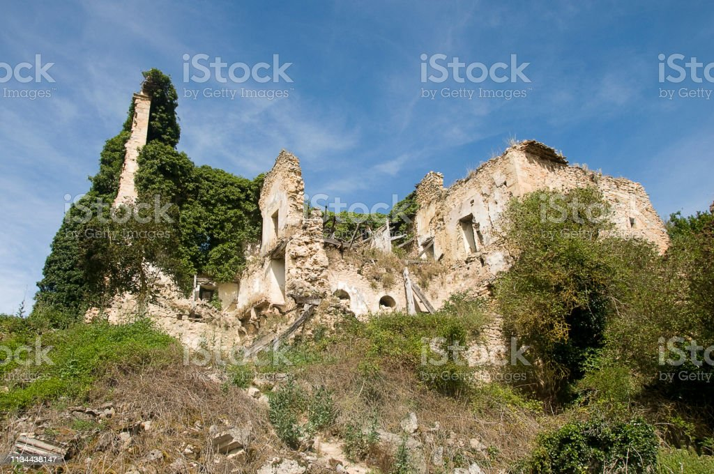ruins of a medieval church stock photo