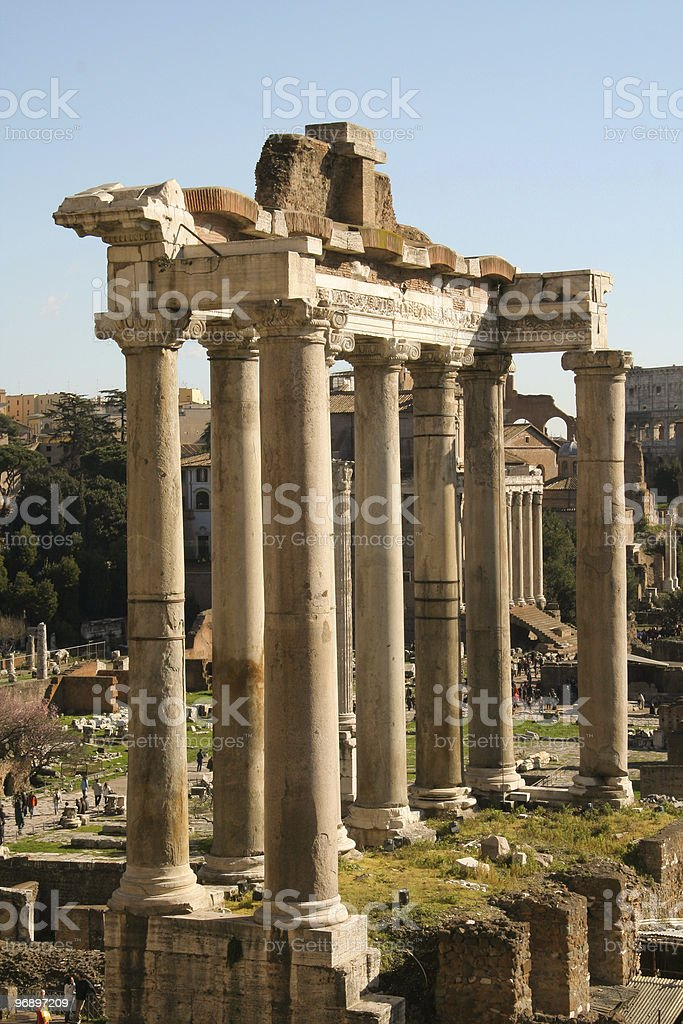 Ruins of a temple royalty-free stock photo