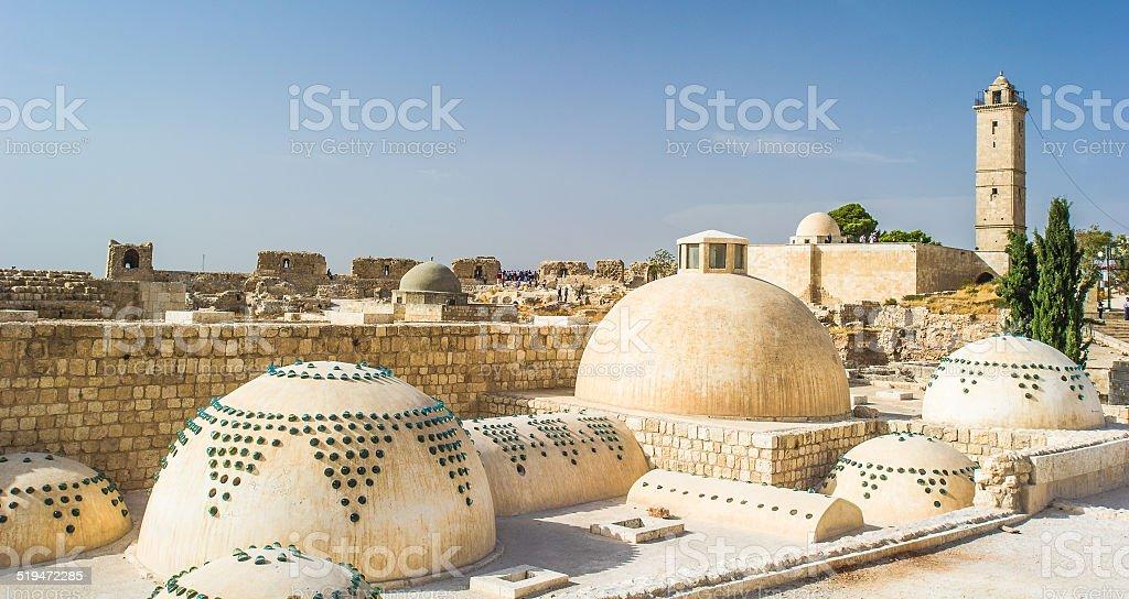 Ruins of Aleppo, Syria. stock photo