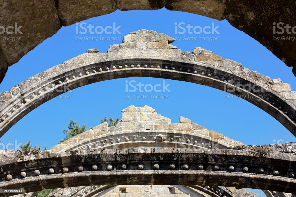 Ruins of an ancient church royalty-free stock photo
