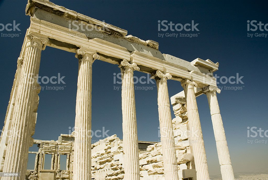 Ruins of an ancient Greek Temple. Athens.Greece royalty-free stock photo