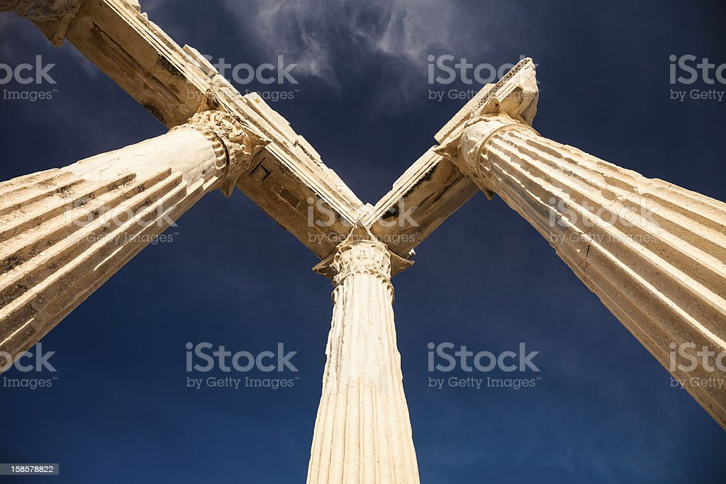 Ruins of an ancient temple royalty-free stock photo