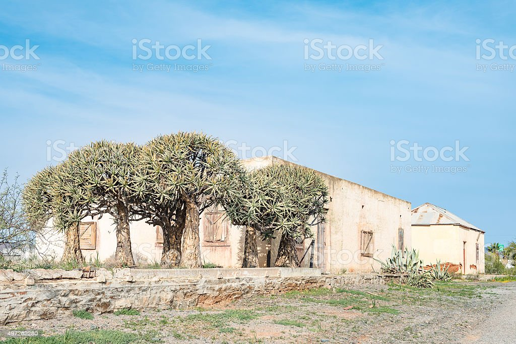 Ruins of an old village stock photo