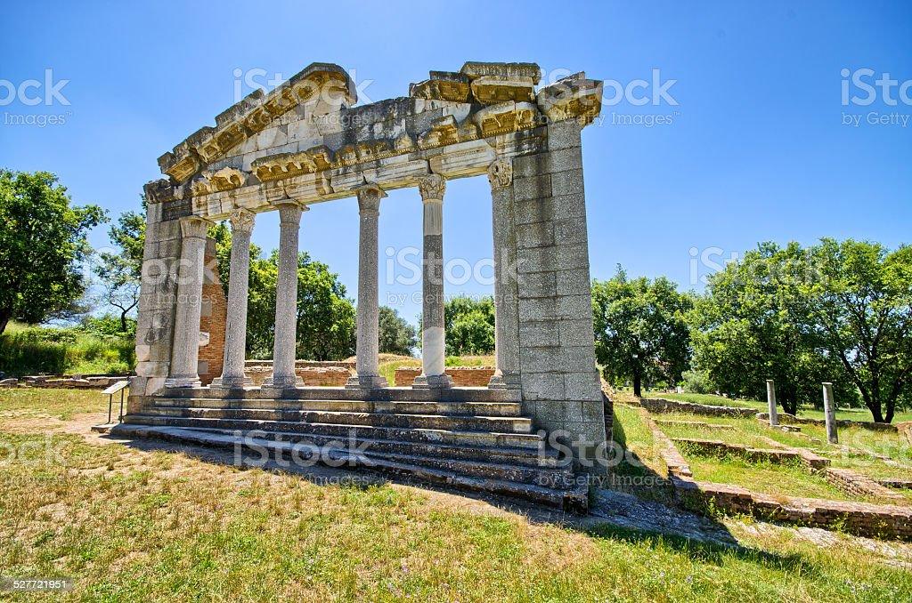 Ruins of ancient Apollonia, Albania stock photo