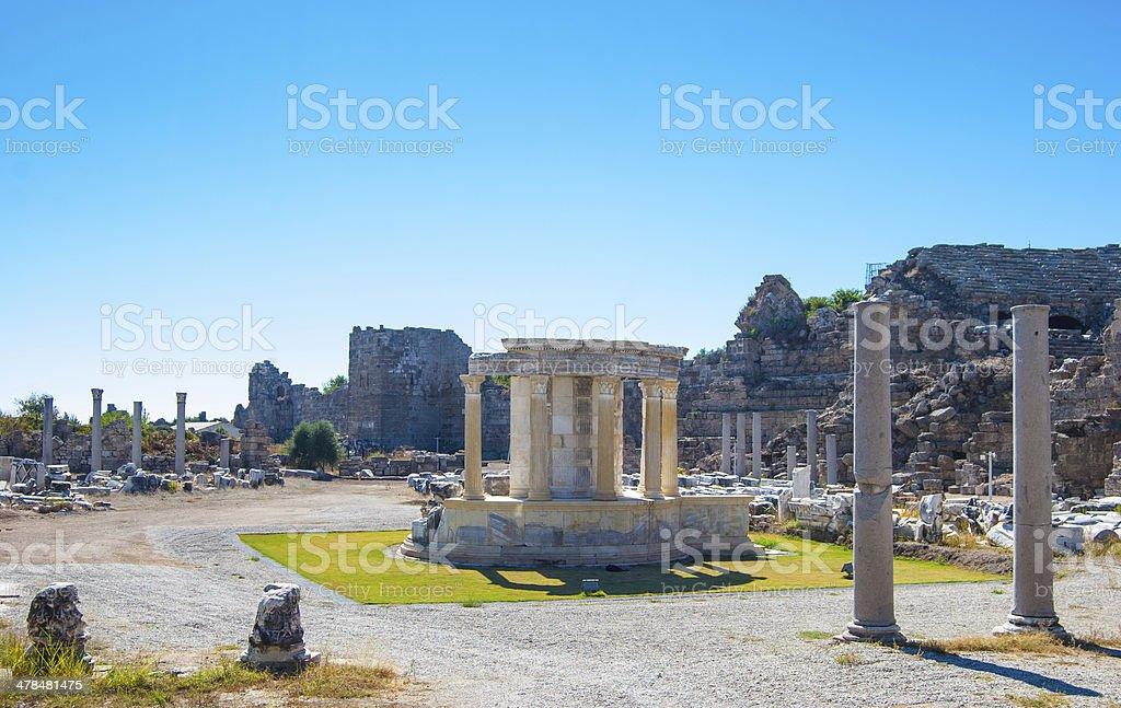 ruins of ancient city stock photo
