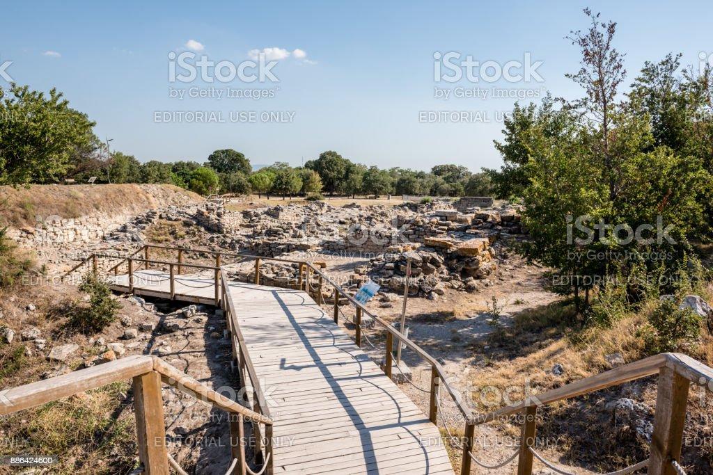 Ruinen der antiken Stadt Troja oder Trojaner in Canakkale, Türkei – Foto