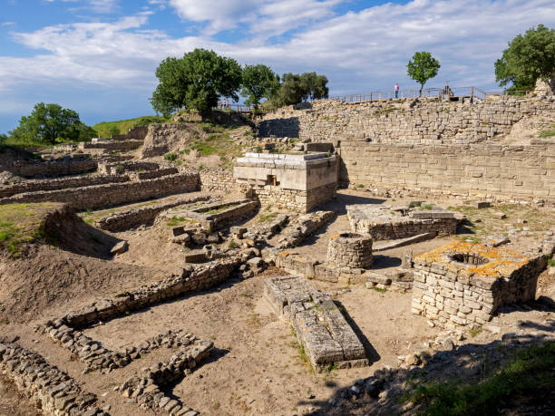 Ruinen der antiken Stadt Troia, Canakkale (Dardanellen) / Türkei – Foto