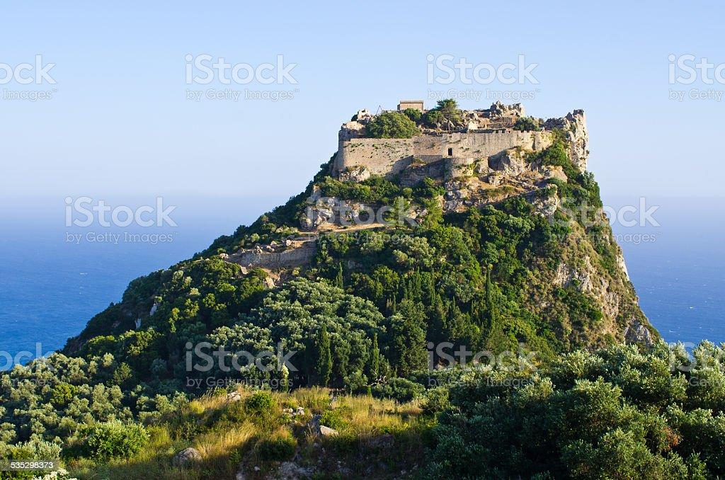 Ruins of Angelokastro fortress - Corfu island, Greece stock photo