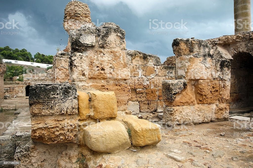 Ruins of Antonine Baths stock photo