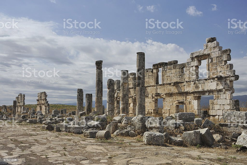 Ruins of Apamea royalty-free stock photo