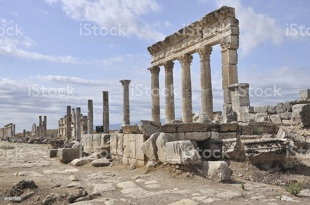 Ruins of Apamea royalty-free stock photo