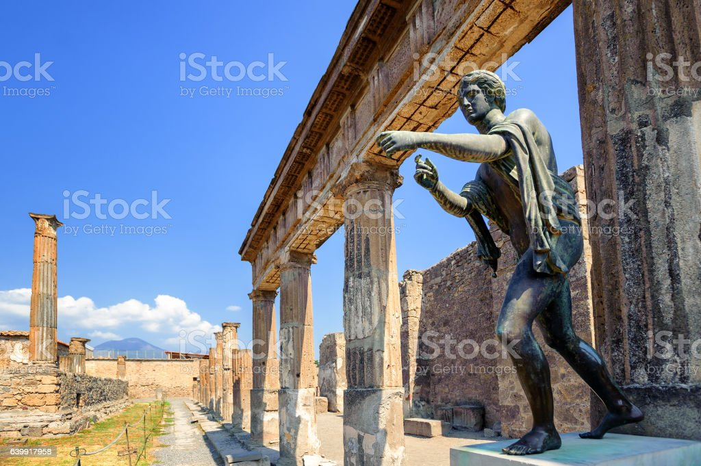 Ruins of Apollo Temple, Pompeii, Naples, Italy - Photo