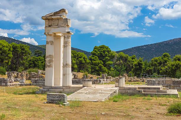 ruins of Asclepeion, Argolida, Greece stock photo