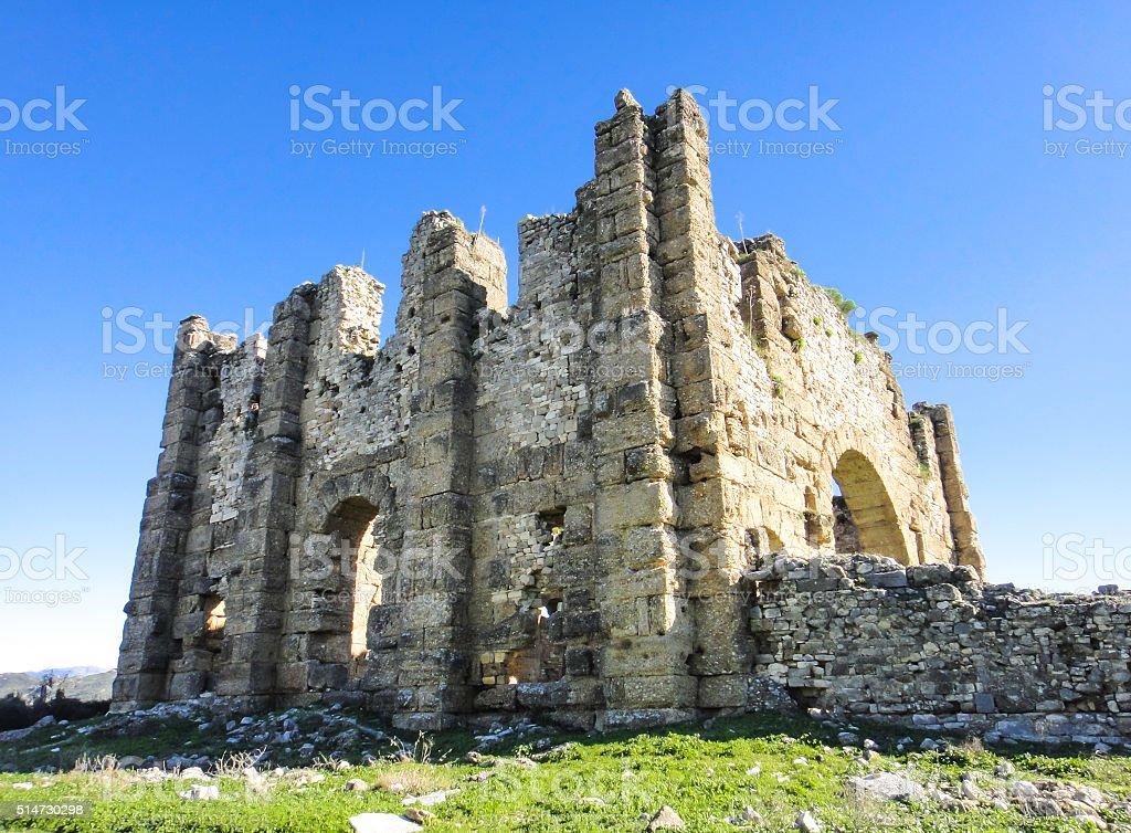 Ruins of Aspendos stock photo
