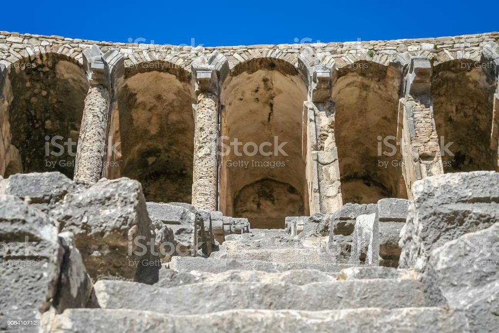 Aspendos kalıntıları stok fotoğrafı