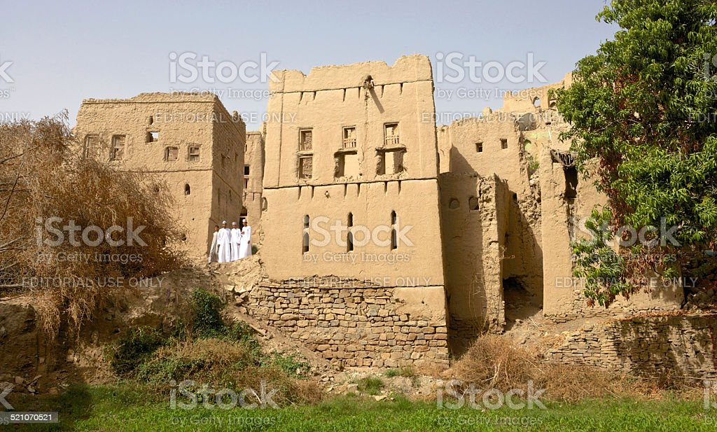 Ruins of Birkat Al Mouz stock photo