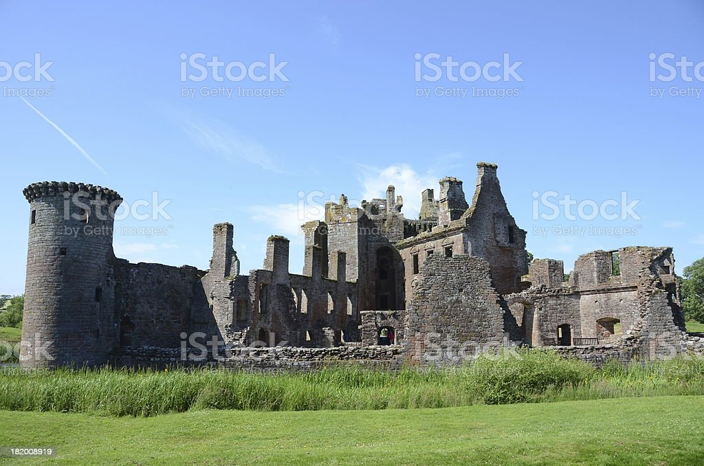 Ruins of Caerlaverock Castle royalty-free stock photo