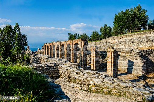 istock Ruins of Catullus Caves, roman villa in Sirmione, Italy 533153089