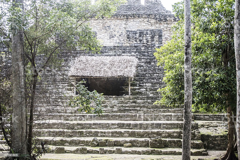 Ruins of Chacchoben in Costa Maya royalty-free stock photo