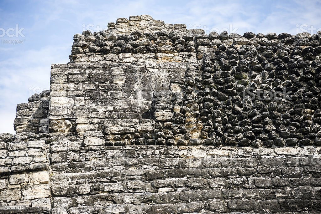 Ruins of Chacchoben royalty-free stock photo
