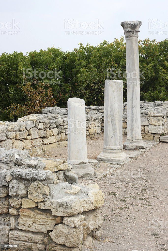 Rovine di Chersonese, Sevastopol foto stock royalty-free