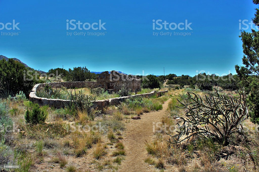 Ruins of Civilian Conservation Corps (CCC) cabin. stock photo