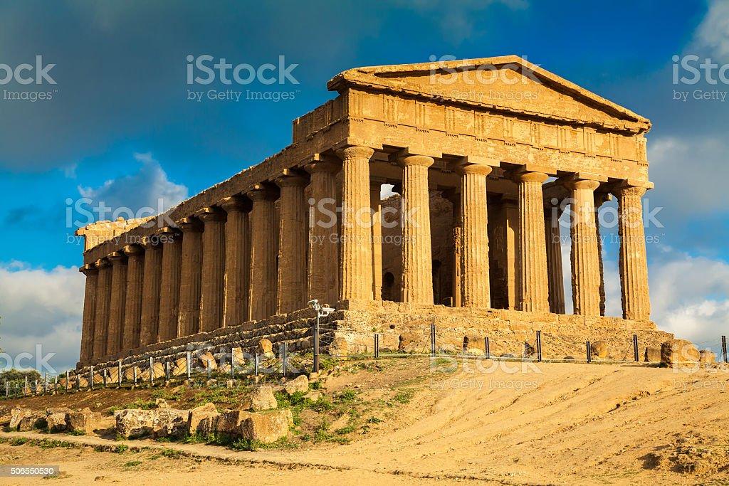 Rovine del Tempio di Concordia - foto stock