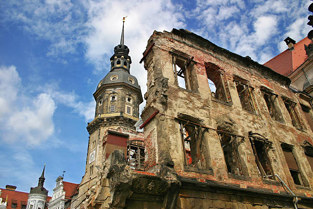 Ruins of Dresden, Germany. stock photo