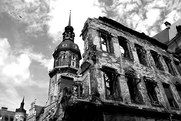 ruins of dresden. - world war ii stock photos and pictures