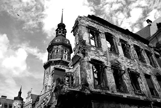Ruins of Dresden. stock photo